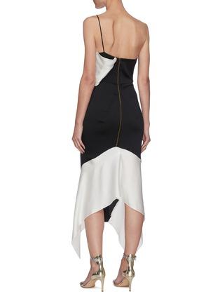 Back View - Click To Enlarge - ROLAND MOURET - Harlow' hammered silk one-shoulder dress