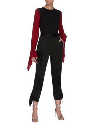 Figure View - Click To Enlarge - ROLAND MOURET - Moston' Contrast Panel Billow Sleeve Blouse