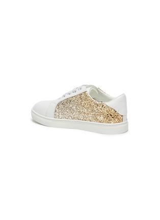 Detail View - Click To Enlarge - WINK - 'MILKSHAKE' kids Elastic Lace Glitter Sneakers