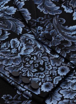 - ALICE + OLIVIA - BRISTOL' Metallic Floral Jacquard Single Button Blazer