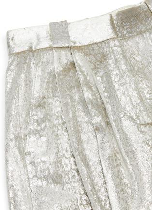 - BLAZÉ MILANO - 'OYSTER' Metallic Shorts