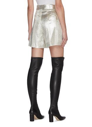 Back View - Click To Enlarge - BLAZÉ MILANO - 'OYSTER' Metallic Shorts