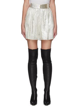 Main View - Click To Enlarge - BLAZÉ MILANO - 'OYSTER' Metallic Shorts