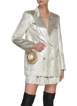 Figure View - Click To Enlarge - BLAZÉ MILANO - 'OYSTER' Metallic Shorts
