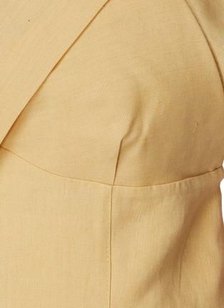 - JACQUEMUS - La Robe Drap' Layered bra detail mini dress