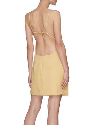 Back View - Click To Enlarge - JACQUEMUS - La Robe Drap' Layered bra detail mini dress