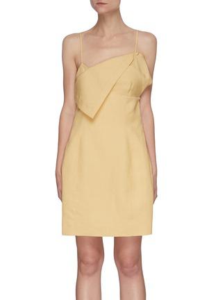 Main View - Click To Enlarge - JACQUEMUS - La Robe Drap' Layered bra detail mini dress