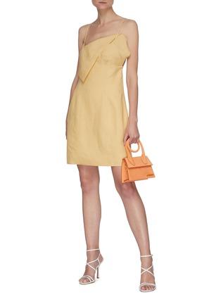 Figure View - Click To Enlarge - JACQUEMUS - La Robe Drap' Layered bra detail mini dress