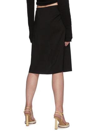 Back View - Click To Enlarge - JACQUEMUS - 'La Jupe Drap' foldover waistband side slit skirt
