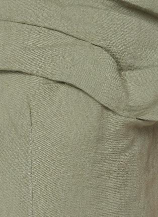 - JACQUEMUS - La Robe Foglio' off-shoulder mini dress