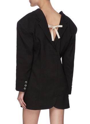 Back View - Click To Enlarge - JACQUEMUS - La Veste Camargue' pleated suit jacket