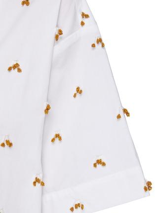 - JACQUEMUS - 'La chemise Jean' Embroidered Bead Appliqué Cotton Shirt