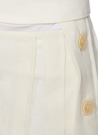 - JACQUEMUS - 'La jupe plissée' Side Placket Pleated Linen Skirt