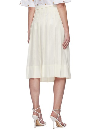 Back View - Click To Enlarge - JACQUEMUS - 'La jupe plissée' Side Placket Pleated Linen Skirt