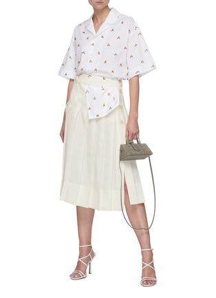 Figure View - Click To Enlarge - JACQUEMUS - 'La jupe plissée' Side Placket Pleated Linen Skirt