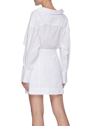 Back View - Click To Enlarge - JACQUEMUS - 'La Robe Terraio' waist cutout shirt dress