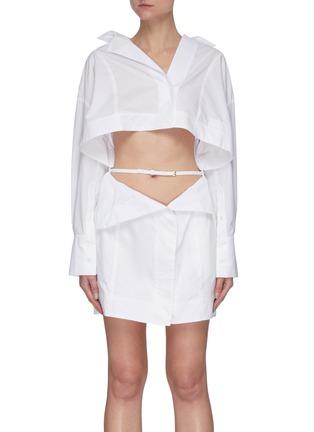 Main View - Click To Enlarge - JACQUEMUS - 'La Robe Terraio' waist cutout shirt dress