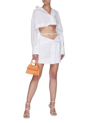 Figure View - Click To Enlarge - JACQUEMUS - 'La Robe Terraio' waist cutout shirt dress