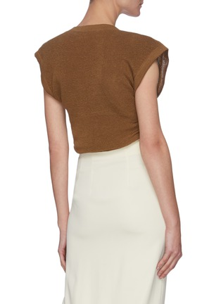 Back View - Click To Enlarge - JACQUEMUS - 'Le Haut Noue' front tie sleeveless knit top