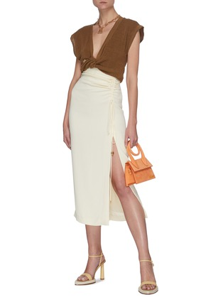 Figure View - Click To Enlarge - JACQUEMUS - 'Le Haut Noue' front tie sleeveless knit top