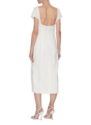 Back View - Click To Enlarge - JACQUEMUS - La Robe Tovallo' cutout embroidery double strap dress