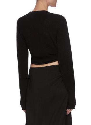 Back View - Click To Enlarge - JACQUEMUS - 'Le Gilet Noue' front tie crop knit top