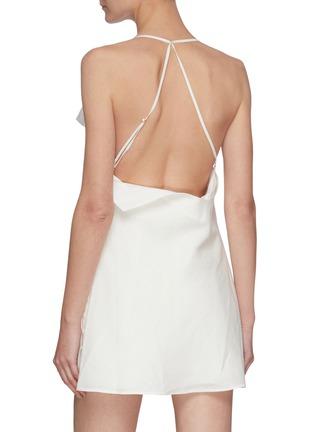 Back View - Click To Enlarge - JACQUEMUS - 'LA COMBINAISON NAPPE' Low Back Mini Dress
