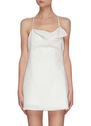 Main View - Click To Enlarge - JACQUEMUS - 'LA COMBINAISON NAPPE' Low Back Mini Dress