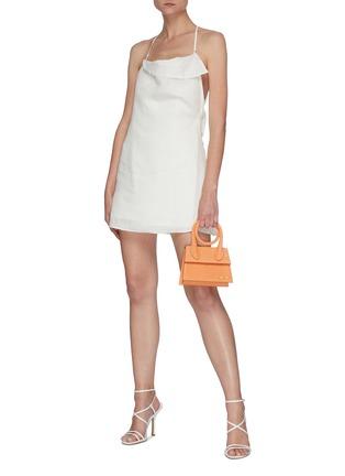 Figure View - Click To Enlarge - JACQUEMUS - 'LA COMBINAISON NAPPE' Low Back Mini Dress