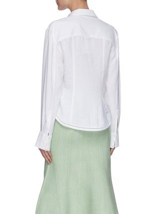 Back View - Click To Enlarge - JACQUEMUS - La Chemise Nappe' cut-out shirt