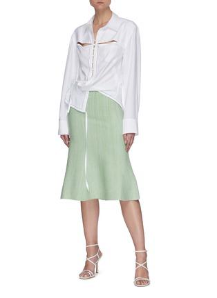 Figure View - Click To Enlarge - JACQUEMUS - La Chemise Nappe' cut-out shirt
