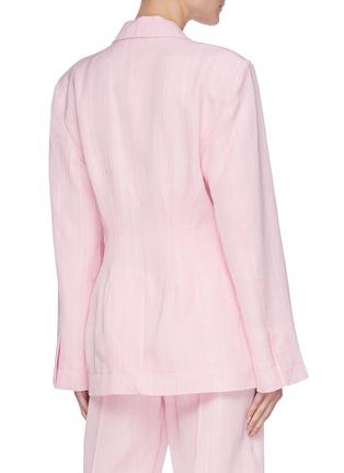 Back View - Click To Enlarge - JACQUEMUS - La Veste Novio' slim fit blazer