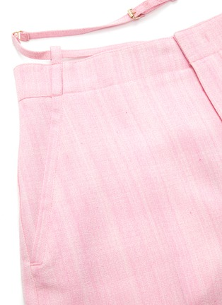 - JACQUEMUS - 'Le short Gardian' Belted Centre Pleat Bermuda Shorts