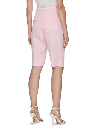 Back View - Click To Enlarge - JACQUEMUS - 'Le short Gardian' Belted Centre Pleat Bermuda Shorts