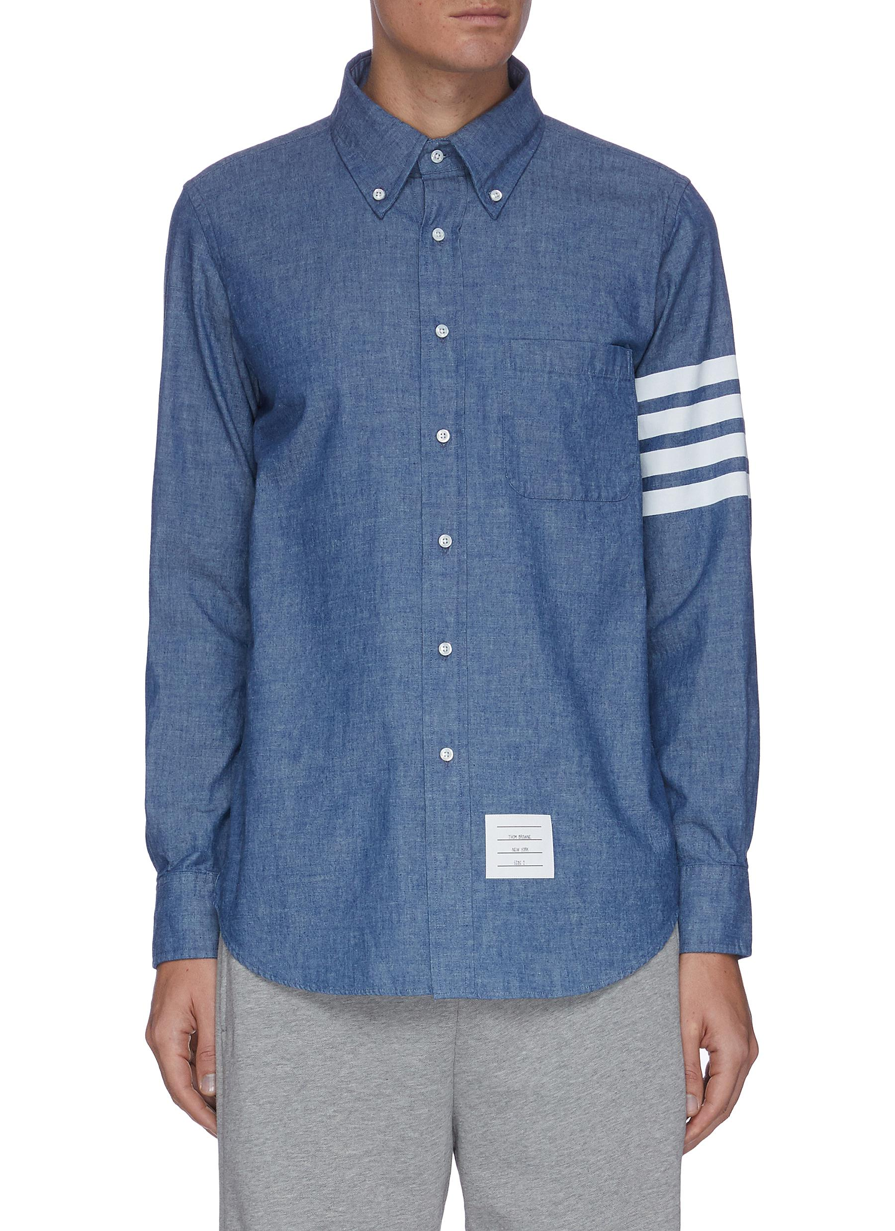 Thom Browne FOUR-BAR STRIPE SHIRT