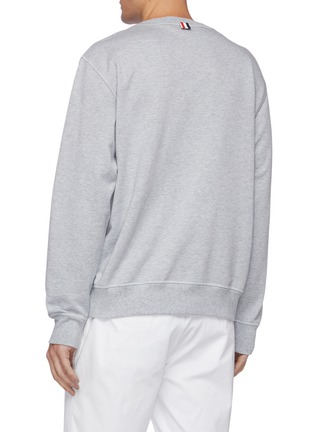 Back View - Click To Enlarge - THOM BROWNE - Embroidered Patch Sweatshirt