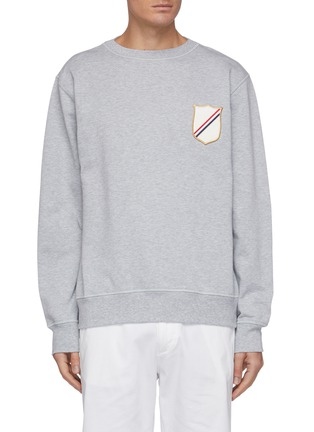 Main View - Click To Enlarge - THOM BROWNE - Embroidered Patch Sweatshirt