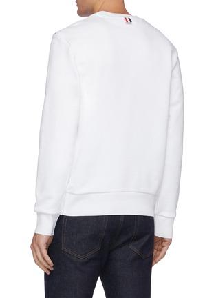 Back View - Click To Enlarge - THOM BROWNE - Diagonal Grosgrain Stripe Sweatshirt