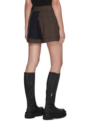 Back View - Click To Enlarge - MONSE - Contrast Trim Plaid Shorts
