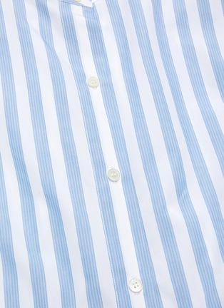 - MONSE - Drawstring Waist Stripe Cotton Shirt