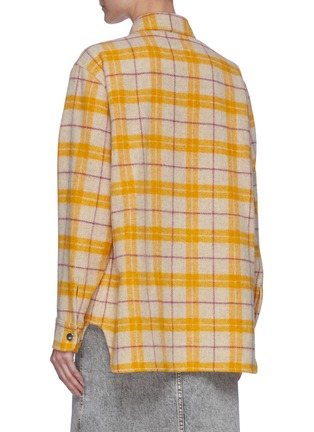 Back View - Click To Enlarge - ISABEL MARANT ÉTOILE - Faxonli check boiled wool shirt