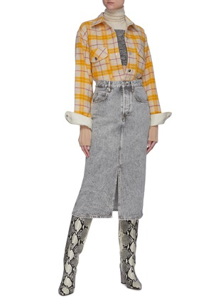Figure View - Click To Enlarge - ISABEL MARANT ÉTOILE - Faxonli check boiled wool shirt
