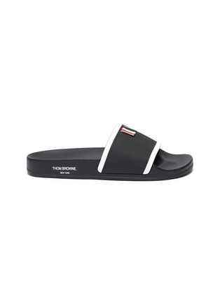 Main View - Click To Enlarge - THOM BROWNE - Branded Single Band Slide Slippers