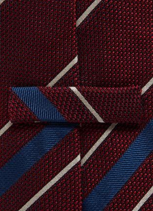 Detail View - Click To Enlarge - STEFANOBIGI MILANO - Striped silk tie