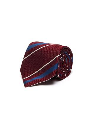 Main View - Click To Enlarge - STEFANOBIGI MILANO - Striped silk tie