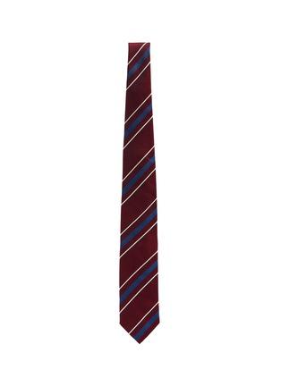 Figure View - Click To Enlarge - STEFANOBIGI MILANO - Striped silk tie
