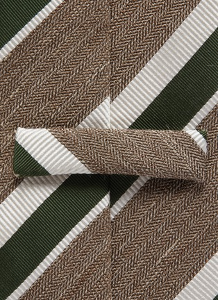 Detail View - Click To Enlarge - STEFANOBIGI MILANO - Striped melange jacquard tie