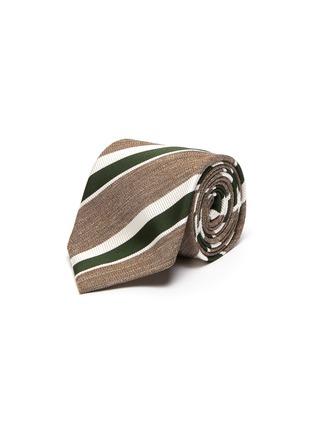 Main View - Click To Enlarge - STEFANOBIGI MILANO - Striped melange jacquard tie