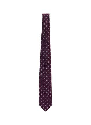Figure View - Click To Enlarge - STEFANOBIGI MILANO - Jacquard floral print silk tie