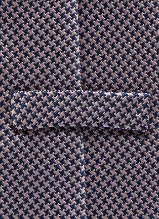Detail View - Click To Enlarge - STEFANOBIGI MILANO - Pied de poule print silk tie